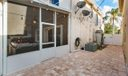 Expanded sideyard with pavers