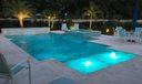 pool patio evening