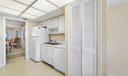 Kitchen/ Stack Washer & Dryer in closet