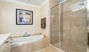 Master Soaking Tub and Large Shower