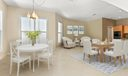 Virtualy staged dining room