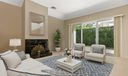 Virtually staged family room