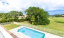 Fenced open pool