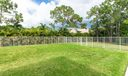 large fenced yard