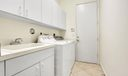 Laundry Room with Tub to Garage
