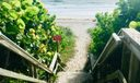 Private beach path