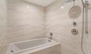 Upstairs Master Tub & Shower