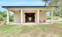 side porch/ wash area