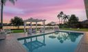 Sunset pool and yard
