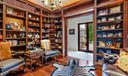 Wood lined library