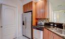 Kitchen w/pocket door into laudry closet