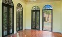 Loggia with french doors