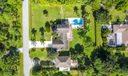 Bird's-eye view of estate