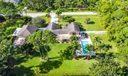 Aerial view large pool