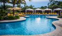 Cabanas at club pool