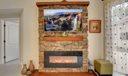 New Stone Wall & Faux Fireplace