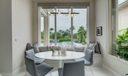 Breakfast nook with built-in window seat