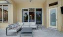 Open patio with retractable screen