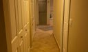 Hallway to 3 closets
