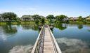 walking dock on pond