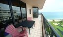 Beachfront balcony view from master
