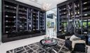 Climate-controlled wine room