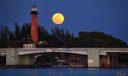 jupiter full moon lighthouse