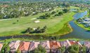 aerial with golf course