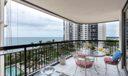 ocean and balcony views