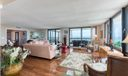 living/family room with ocean views