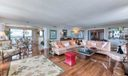 family room with intracoastal views
