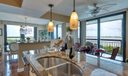 kitchen with intracoastal views
