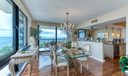 dining/kitchen with intracoastal views