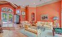 2 - 4 Living Room View to Wood Ceilings