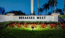 Breakers West Entrance sign b