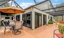 Large wraparound patio