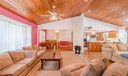 Open Concept with Cathedral Ceiling