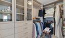 Walk-In Closets w/Custom Built-Ins