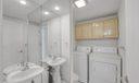 Half bathroom with washer/dryer hookup