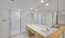 Shower/dual sinks
