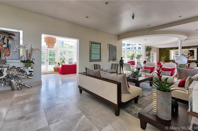 A truly impressive living area with multiple living spaces and stunning architectural detail