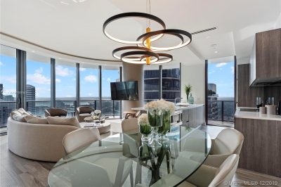 Living/Dining area with full upgrade, completely furnished and ceiling lamps. Never lived there