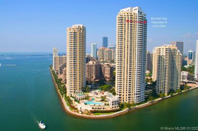 Brickell Key Island! Three Tequesta Pointe is on the Northeast corner of the Island, the apartment faces north on the 43rd. Floor