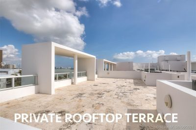 Private rooftop terrace!