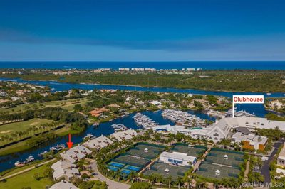 Aerial toward ICW and Ocean-Marina, Pool, Clubhouse, Golf & Tennis nearby