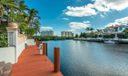 Dock with 128 feet of frontage & deep water/wide canal. 24/7 guarded waterway via boat
