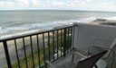 East balcony and view of beach and ocean