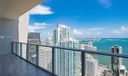 Balcony - North East View to Biscayne Bay and Miami Skyline