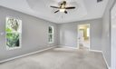 Master includes a tray ceiling, huge walk-in closet, jetted tub, separate shower, & dual sinks