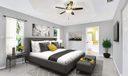 Virtual staging master bedroom